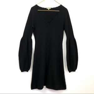 GIANNI BINI 100% Cashmere Black sweater dress